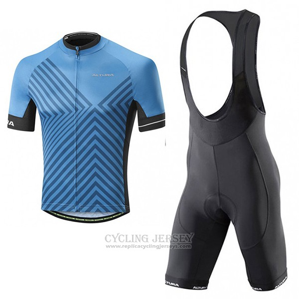 2017 Cycling Jersey Altura Peloton Blue Short Sleeve and Bib Short