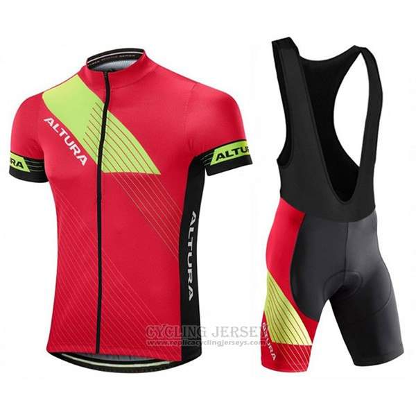 2017 Cycling Jersey Altura Sportive Red Short Sleeve and Bib Short
