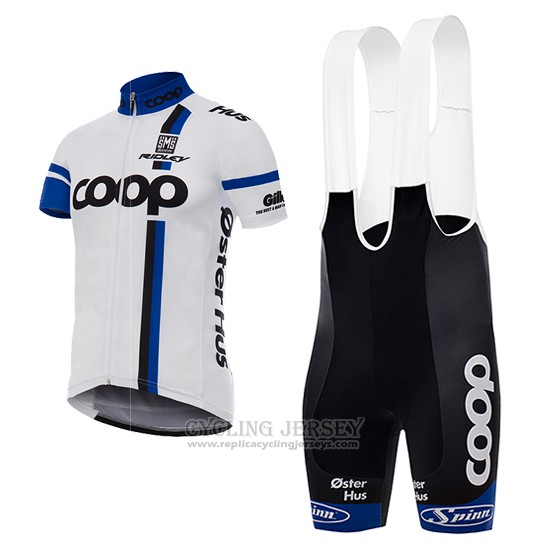 2017 Cycling Jersey Coop White Short Sleeve and Bib Short