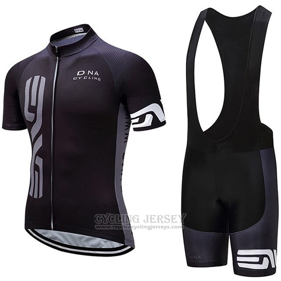 2019 Cycling Jersey Dna Black Short Sleeve and Bib Short