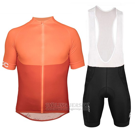 2018 Cycling Jersey POC Orange Short Sleeve and Bib Short