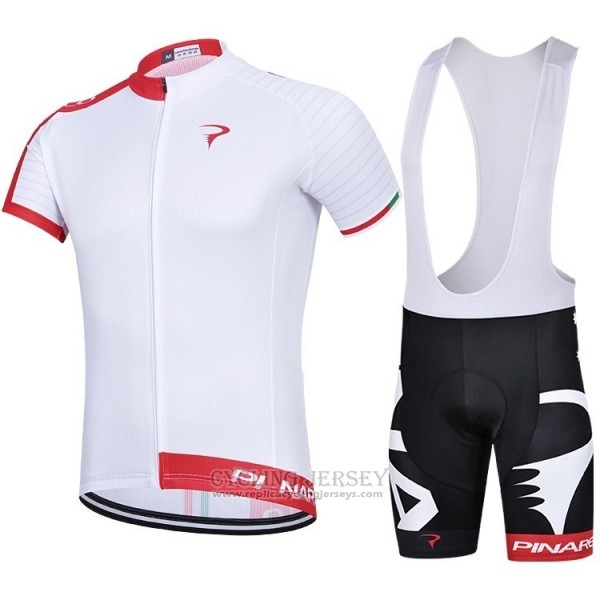2018 Cycling Jersey Pinarello White Red Short Sleeve and Bib Short