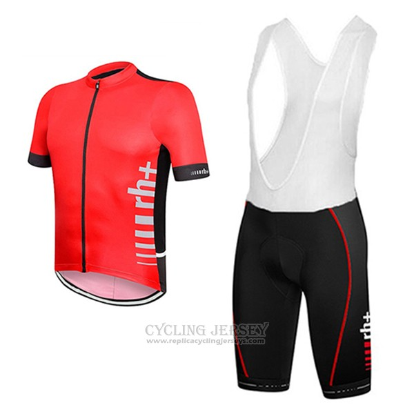 2017 Cycling Jersey RH+ Red Short Sleeve and Bib Short