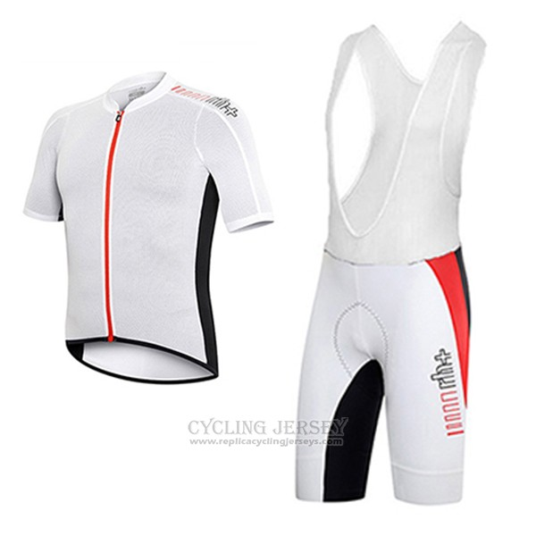 2017 Cycling Jersey RH+ Red and White Short Sleeve and Bib Short