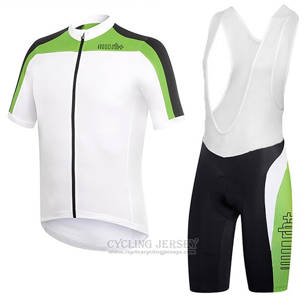 2017 Cycling Jersey RH+ White and Green Short Sleeve and Bib Short