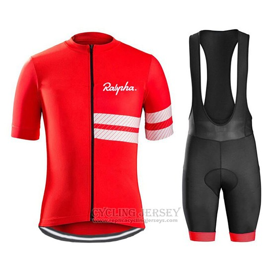 2019 Cycling Jersey Ralph Red White Short Sleeve and Bib Short