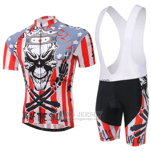 2013 Cycling Jersey Rock Racing Red and White Short Sleeve and Bib Short