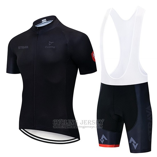 2019 Cycling Clothing STRAVA Black Short Sleeve and Overalls