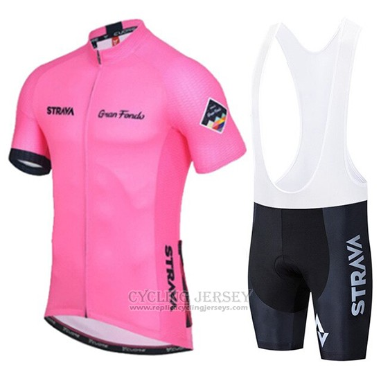 2019 Cycling Clothing STRAVA Pink Short Sleeve and Overalls