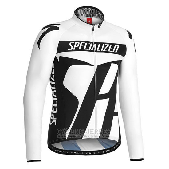 2016 Cycling Jersey Specialized Black and White Long Sleeve and Bib Tight