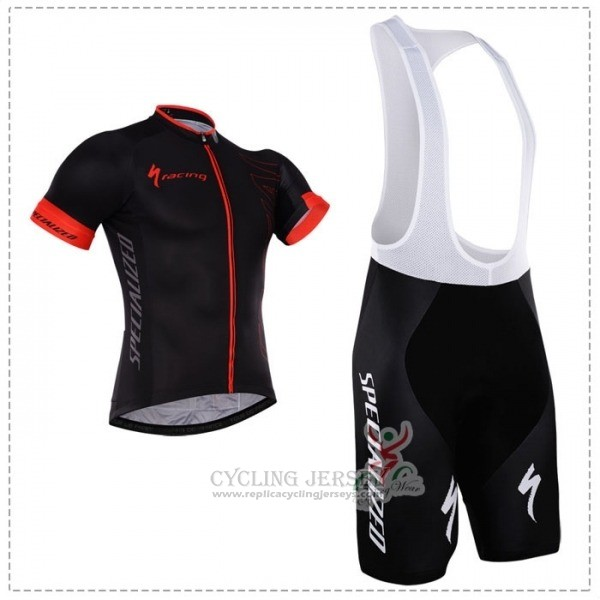 2018 Cycling Jersey Specialized Black Red Short Sleeve Salopette