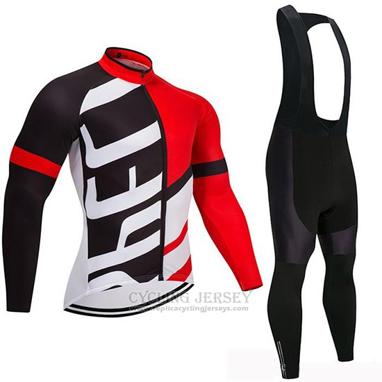 2019 Cycling Jersey Specialized Black Red Long Sleeve and Bib Tight