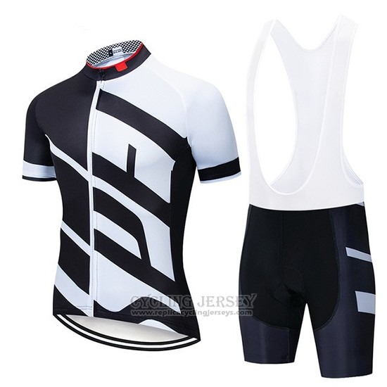 2019 Cycling Jersey Specialized White Black Short Sleeve and Bib Short