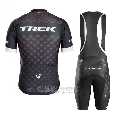 2016 Cycling Jersey Trek Bontrager Black Short Sleeve and Bib Short
