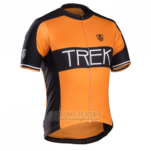 2016 Cycling Jersey Trek Bontrager Black and Orange Short Sleeve and Bib Short