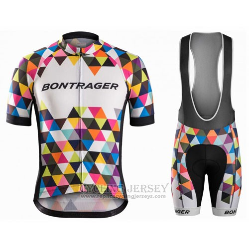 2016 Cycling Jersey Trek Bontrager Black and White Short Sleeve and Bib Short