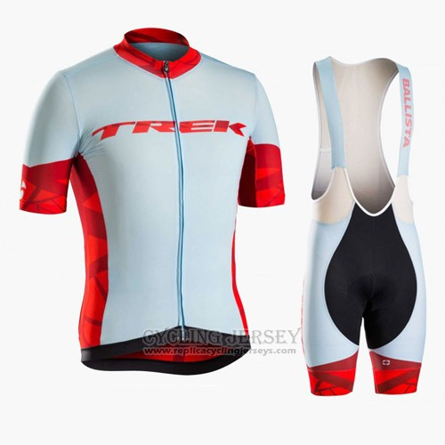 2016 Cycling Jersey Trek Bontrager Blue and Red Short Sleeve and Bib Short