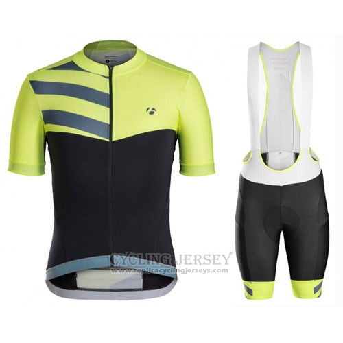 2016 Cycling Jersey Trek Bontrager Green and Black Short Sleeve and Bib Short