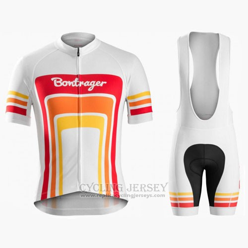 2016 Cycling Jersey Trek Bontrager Red and White Short Sleeve and Bib Short