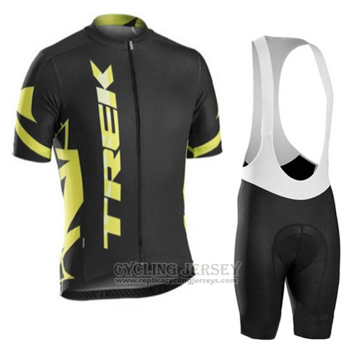 2016 Cycling Jersey Trek Bontrager Yellow and Black Short Sleeve and Bib Short