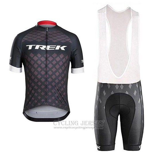 2017 Cycling Jersey Trek Bontrager Gray Short Sleeve and Bib Short