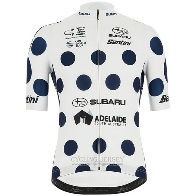 2019 Cycling Jersey Tour Down Under Bluee White Short Sleeve and Bib Short