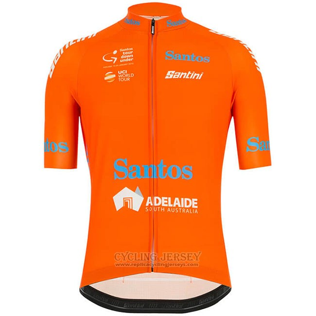 2019 Cycling Jersey Tour Down Under Ochre Orange Short Sleeve and Bib Short