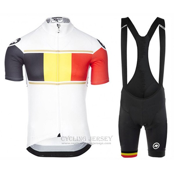 2017 Cycling Jersey Assos Champion Belgium Short Sleeve and Bib Short