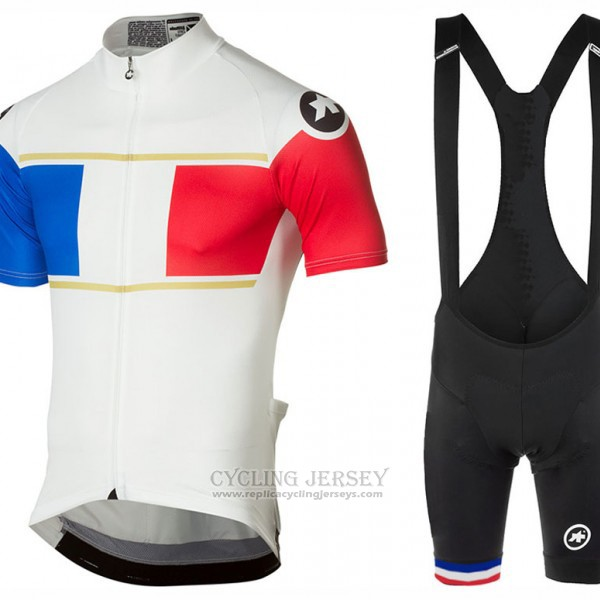 2017 Cycling Jersey Assos Champion France Short Sleeve and Bib Short