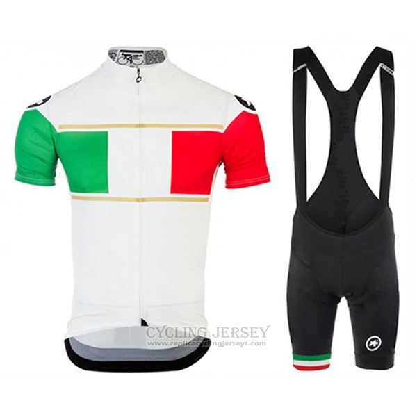 2017 Cycling Jersey Assos Champion Italy Short Sleeve and Bib Short