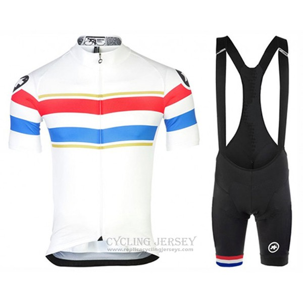2017 Cycling Jersey Assos Champion Netherlands Short Sleeve and Bib Short