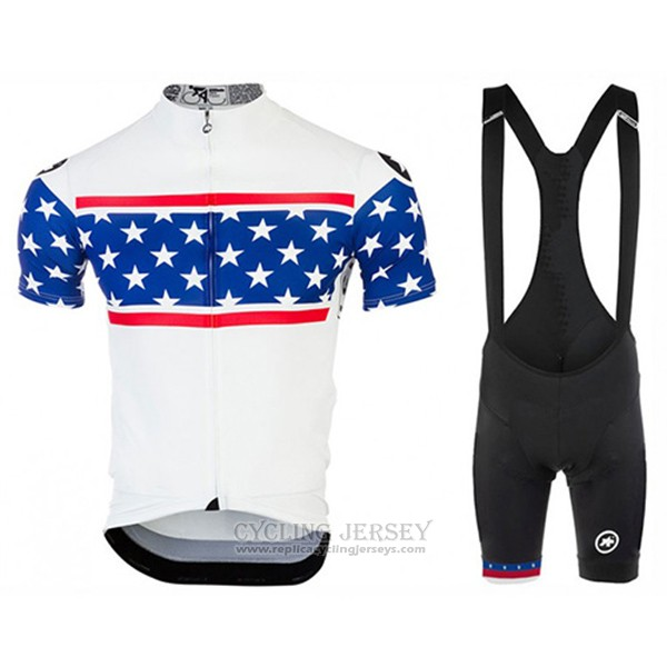 2017 Cycling Jersey Assos Champion The United States Short Sleeve and Bib Short