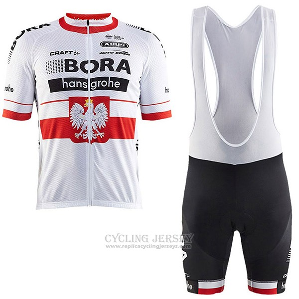 2017 Cycling Jersey Bora Champion Poland Short Sleeve and Bib Short