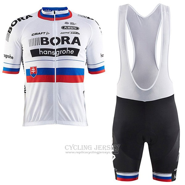 2017 Cycling Jersey Bora Champion Slovakia Short Sleeve and Bib Short