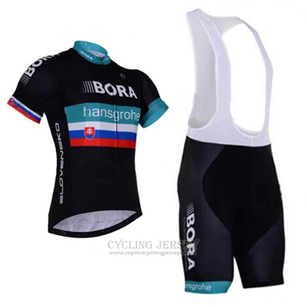 2017 Cycling Jersey Bora Hansgrohe Black Short Sleeve and Bib Short