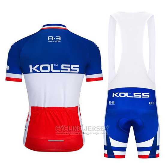 2019 Cycling Jersey Kolss Champion France Short Sleeve and Overalls