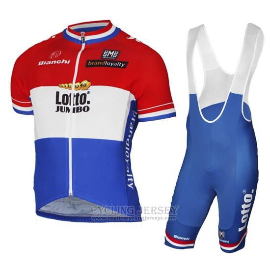 2017 Cycling Jersey Lotto NL-Jumbo Champion Netherlands Short Sleeve and Bib Short