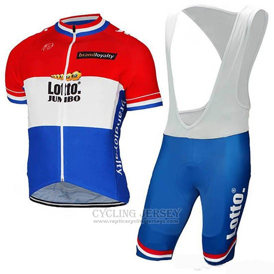 2019 Cycling Jersey Lotto-NL-Jumbo Luxembourg Short Sleeve and Bib Short