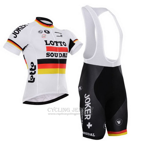 2015 Cycling Jersey Lotto Soudal Champion Germany Short Sleeve and Bib Short