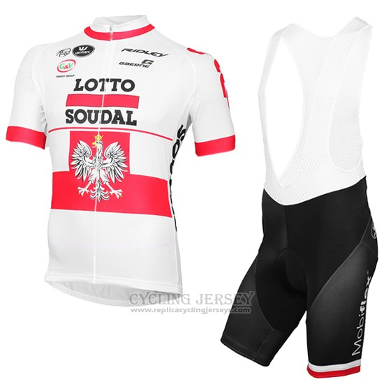 2016 Cycling Jersey Lotto Soudal Champion Poland Short Sleeve and Bib Short