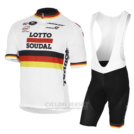 2017 Cycling Jersey Lotto Soudal Champion Germany Short Sleeve and Bib Short