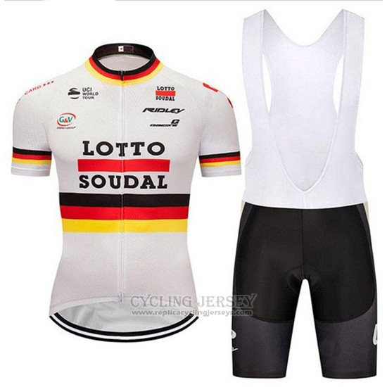 2018 Cycling Jersey Lotto Soudal Champion Germany Short Sleeve and Bib Short