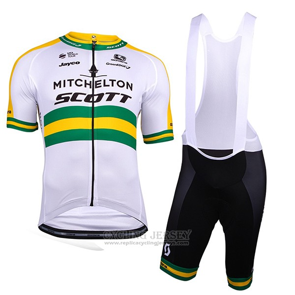 2018 Cycling Jersey Mitchelton Scott Champion Australia Short Sleeve and Bib Short