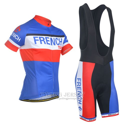 2014 Cycling Jersey Monton Champion Francese Short Sleeve and Bib Short