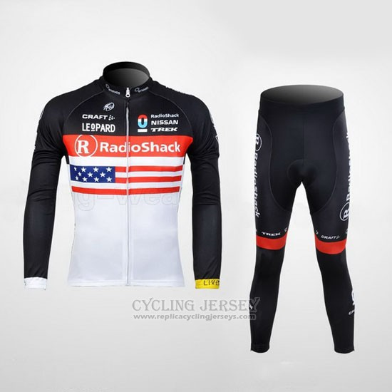 2012 Cycling Jersey Radioshack Champion The United States Long Sleeve and Bib Tight