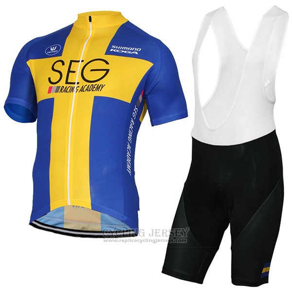 2017 Cycling Jersey SEG Racing Academy Champion Sweden Short Sleeve and Bib Short