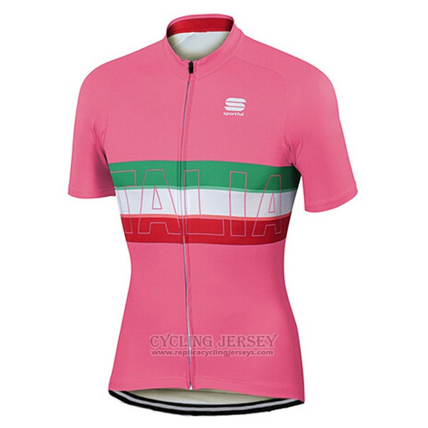 2017 Cycling Jersey Sportful Champion Italy Red Short Sleeve and Bib Short