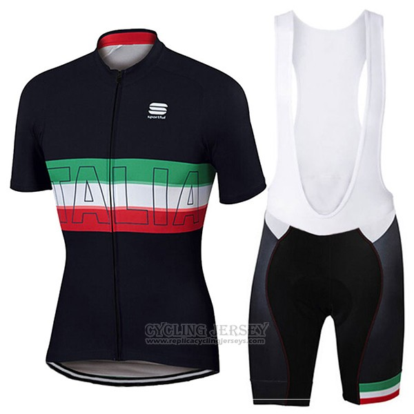 2017 Cycling Jersey Sportful Champion Italy Short Sleeve and Bib Short