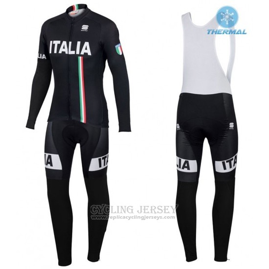 2016 Cycling Jersey IAM White and Black Long Sleeve and Bib Tight