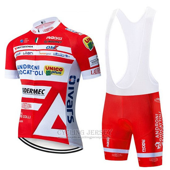 2019 Cycling Jersey Androni Giocattoli Orange and White Short Sleeve and Bib Short